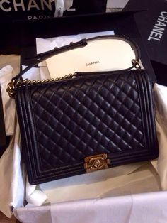Ms Fashion Junkie - Chanel Caviar Large Boy 30cm Flap Bag Fall Winter 2014 Collection GHW, Black, $780.00 (http://www.mrsfashionjunkie.com/chanel-caviar-large-boy-30cm-flap-bag-fall-winter-2014-collection-ghw-black/)