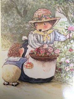 Sweet hedgehog illustration