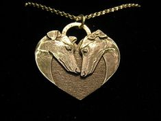 A Hounds Heart Sterling Silver Pendant, $75.00