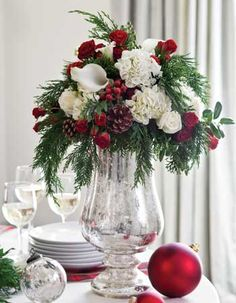 Holiday Open House   Tall centerpiece