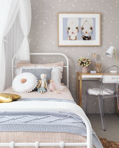 kids interior – Oh Eight Oh Nine Scandi Bedroom, Bedroom Decor, Scandinavian Nursery, Bedroom Interiors, Kids Bedroom, Girls Bedroom Wallpaper, Little Girl Rooms, Home Buying, Decoration