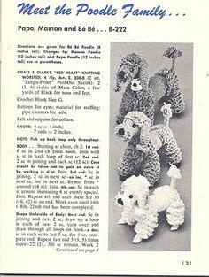 Todays Treasure Shop Talk: Crochet Poodle Stuffed Dog, Free Pattern