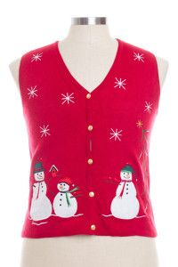 Red Ugly Christmas Vest 28337