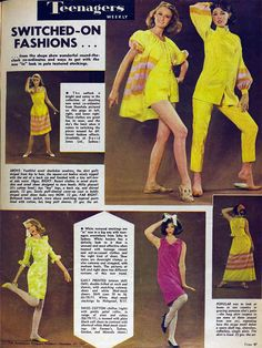 1964 teen fashions Okay- this cracks me up! How far we've come... It's so cheesy it could almost be cool again. LifeLoveandGod.com