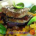 Mille-feuille de foie gras pomme-passion