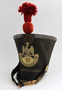 Officers shako. 13th regiment of the line. 1812-1815.