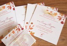 Autumn Wedding Invitations & Stationery
