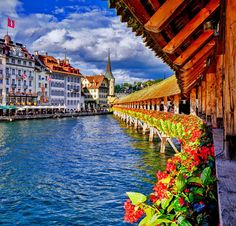 Famous Chapel Bridge in Lucerne | 10 TOP Things to do in Switzerland
