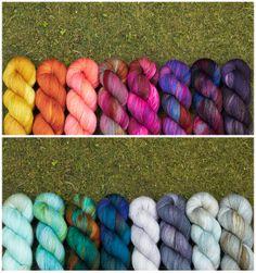 Hand Dyed Sock Yarn by Hedgehog Fibres!