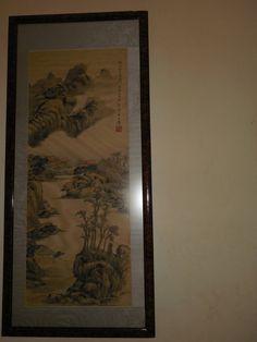 Original Wang Hui silk scroll painting mountain and by artiques71