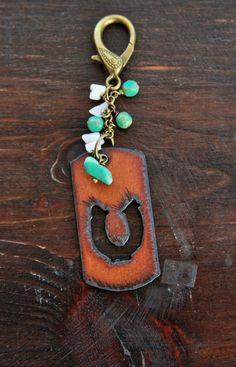 Horseshoe Brass Key Chain Ranch Purse Charm by TheRusticSouls