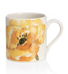 Taza con diseño floral