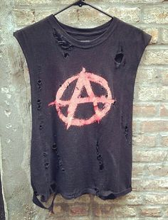 Ripped Rebellion Shirt. A. Black. Awesome. Anarchy.