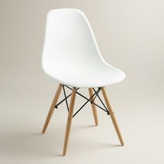 White Molded Evie Chairs, Set of 2 | World Market