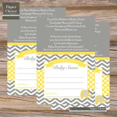 Elephant bring a book  Insert Card with attached bookplate, yellow, grey - digital, printable on Etsy, $10.34 AUD