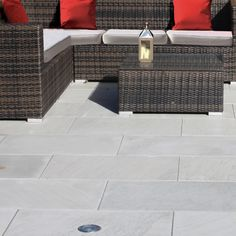 Natural Paving-Sawn & Honed Sandstone 'Premiastone'-Platinum-PAVING SLABS
