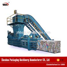 180 semi automatic horizontal type compression waste paper baler machine