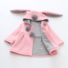 5f4440f2016 Infants Hood Bunny Jacket. Baby Girl Clothes ...