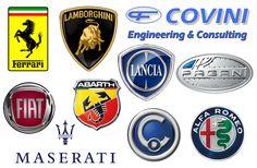All Italian car brands logos