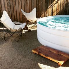 Jeremy built a redwood swim step for the pool! Avoiding getting gravel on your feet while stepping in or out of the pool was a little awkward, so this guy was a great solution that he built with some leftover wood.