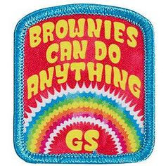 Girl Scout Fun Patch, Brownies Can Do Anything. Girl Scout Patches. $1.25