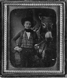 Boy with a Mule  Circa 1850s