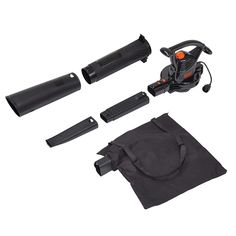 Black & Decker BV3100 12-Amp Blower/Vacuum/Mulcher Garden Power Tools, Vacuum Tube, Leaf Blower, Amp, Electric, Leaves, Black, Collection, Products
