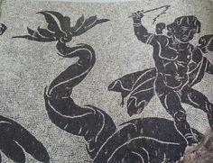 Mosaico de las Termas Caracalla. Las termas eran uno de los pasatiempos preferidos por los romanos, que acudían a ellas con regularidad tanto para mantener su higiene, como para mejorar sus relaciones sociales.