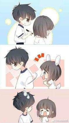 Love Never Fails Manga Anime Cupples, Anime Chibi, Anime Guys, Anime Art, Manga Couple, Anime Love Couple, Anime Couples Manga, Cute Chibi Couple, Bts Art
