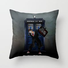 Anonymous Doctor who PILLOW CASE @pointsalestore Society6 #PillowCover #CostumPillow #Cushion #CushionCase #PersonalizedPillow #tardis #phone booth #bluephonebox #policepubliccallbox #badwolf #doctorwho #9thdoctor #10thdoctor #11thdoctor #12thdoctor #music #guitar #drum #bass #rythem #timetravel #timelord #timevortex #retro #photography #whovian