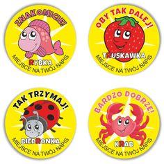 """Naklejki """"Dla logopedów - GŁOSKA R"""" (40mm, 120 szt.) + nazwa szkoły/przedszkola/firmy SzkolneNaklejki.pl"""
