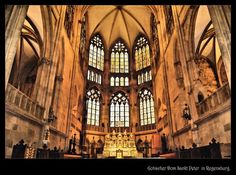 Gothic Cathedral of Saint Peter in Regensburg / Germany Romanesque Architecture, Ancient Greek Architecture, Cultural Architecture, Sacred Architecture, Gothic Cathedral, Cathedral Church, Regensburg Germany, Grand Mosque, Parthenon