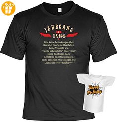 Sprüche Fun Geburtstags T-Shirt & Mini Shirt Jahrgang 1986 Geschenk zum 30. Geburtstag Farbe: schwarz (*Partner-Link)