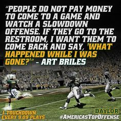 #Baylor Football -- #AmericasTopOffense (via BUFootball on Twitter)