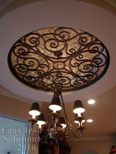 Faux Wrought Iron Ceiling Medallion....loving this product
