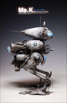 1:20 sci-fi scale model, Maschinen Krieger Luna Gans, by Kunho Noh. Pinned by #relicmodels
