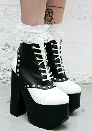 7e62fb5279f Curiosity won t kill ya when yer wearing these badass saddle shoe style  heels