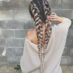 hair love ☆ Follow us @popcherryau for more hair inspo ☆ plaits goals // cute // perfection