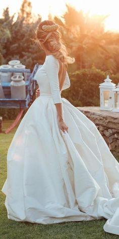 30 Simple Wedding Dresses For Elegant Bride ❤️ modern simple open back bridal gown with sleeves. 30 Simple Wedding Dresses For Elegant Bride ❤️ modern simple open back bridal gown with sleeves. Wedding Bells, Wedding Bride, Wedding Gowns, Dream Wedding, Wedding Rings, Wedding Ideas, Long Wedding Dresses, Wedding Night, Sleeved Wedding Dresses