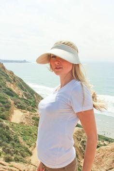 Sungrubbies 5 Inch Brim Visor Hat for women fashionable outdoor protective visor. #visorhat #sunvisorhat