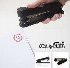Smiling face stapler