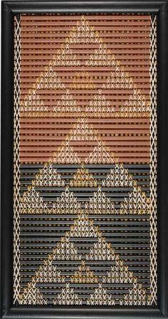 Niho Taniwha has been identified as a pattern of Te Arawa and Waikato iwi. The teeth-like triangular shapes of niho taniwha are 'dragon's'… Flax Weaving, Weaving Art, Weaving Patterns, Hawaiian Tribal Tattoos, Samoan Tribal Tattoos, Maori Tattoos, Maori Symbols, Maori Patterns, Cross Tattoo For Men