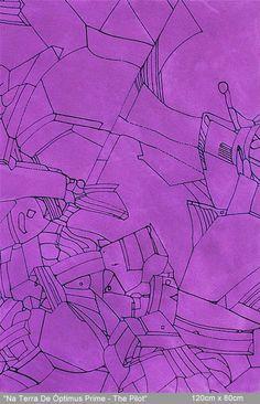 """Na Terra de Óptimus Prime - The Pilot"", Robert Espíndola, 120cm x 80cm"