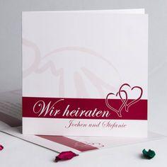 Wo viel Liebe ist da gibt es Lebensfreude Elfenbein Ausgefallen Hochzeitseinladungen