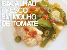 Bacalhau Fresco em Molho de Tomate