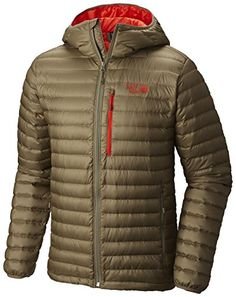 Mountain Hardwear Nitrous Hooded Down Jacket  Mens Stone Green XLarge ** Check this awesome product by going to the link at the image.(This is an Amazon affiliate link and I receive a commission for the sales)