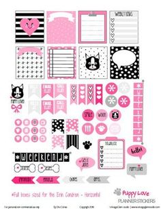 FREE Puppy Love Planner Stickers | Free printable by Vintage Glam