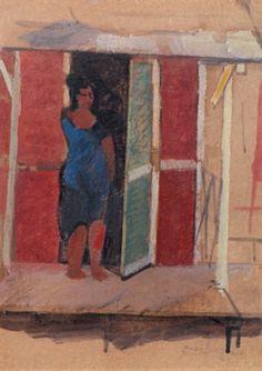 Moses Levy (italien, 1885 - 1968) Titre : Donna che entra nella cabina , 1919 Support : oil on card Taille : 19 x 14 cm. (7.5 x 5.5 in.)Voir les résultats denchères passées pour MosesLevy sur artnet