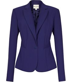 Reiss Maddy One Button Jacket Electric Blue