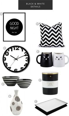 Fashiony Fab: Black and White Decor
